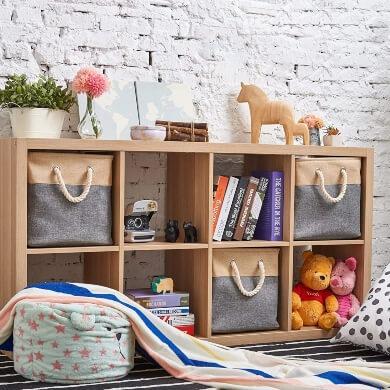 cajas de tela decorativas mantener todo en orden plegables armarios muebles estanterías juguetes ropas