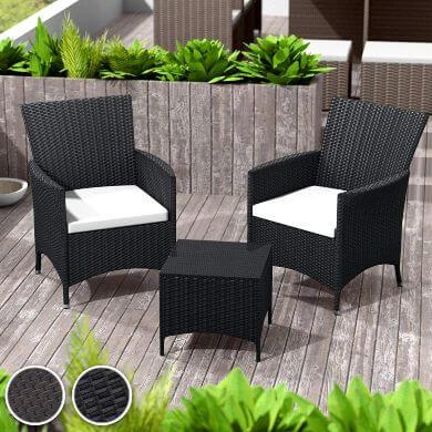 poly ratán sintético mesas sillas taburetes sofás tumbonas muebles de jardín