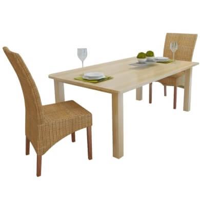 sillas de comedor de mimbre rattan ratan bambú tejidos a mano artesania decoració jardín terraza en oferta aquí compra online