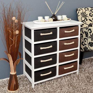 muebles rebecas cómodas mimbre rattan bambú madera decoració interiores salon comedor baño dormitorio