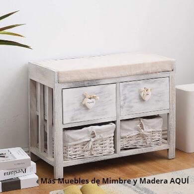 Muebles de mimbre y madera la combinación perfecta para decorar tu hogar chalet piso estudio local comercial lugar de trabajo guardería colegio decoración de interiores
