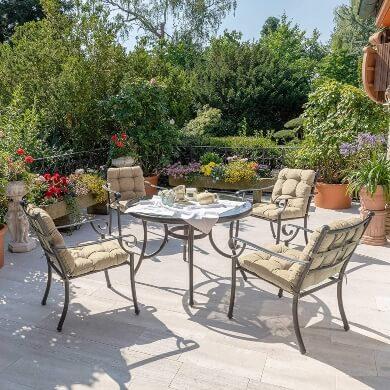 cojines sillas sillones tumbonas hamacas de jardín terraza piscina