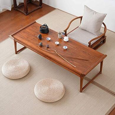 Cojín de Paja Cojín Hecho a Mano con Forma de cojín de Paja Tapete Redondo de Yoga para el Descanso de Meditación Mimbre