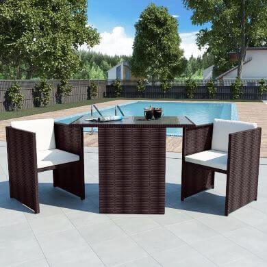 mesas sillas mimbre ofertas online comprar ahora descuentos decoración comedor