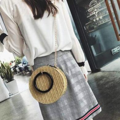 accesorios de mimbre para mujer bolsos cinturones collares pendientes