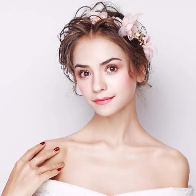 Tocado de Corolla Guirnalda de flores tocado de novia diadema nueva corona hecha a mano vestido de novia accesorios de la boda accesorios para el cabello estilo del bosque