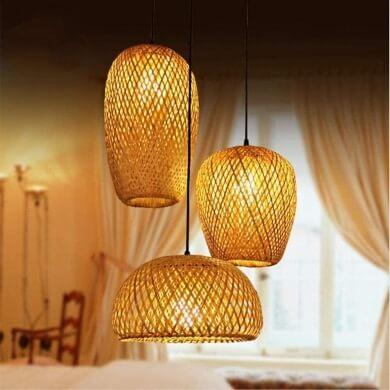lámparas techo mimbre madera bambu hierro forja decoracion las mejores en oferta envío gratis