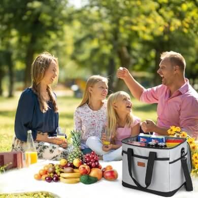 Nevera plegable cesta isotérmica alimentos frescos neveras portátiles campo playa naturaleza picnic