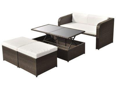 muebles de jardin sillon sofa puff mesa abatible