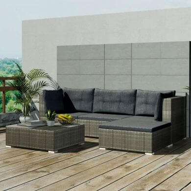 Sillones y sofás de mimbre para terrazas piscinas jardines hoteles chalet casa de campo