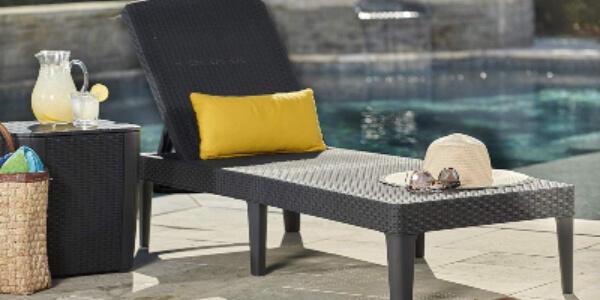 tumbona mimbre rattan sintético playa piscina jardin terraza