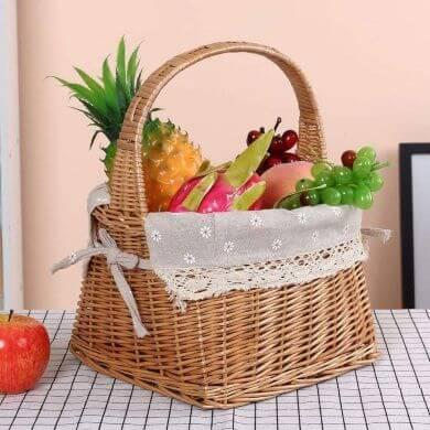 frutero de mimbre ensaladera bol cerámica comprar online