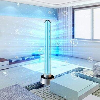 Luz ultravioleta lámpara UV desinfección germicida purificador de ambiente contra bacterias ácaros microorganismos Bacterianos virus