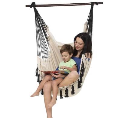 hamacas colgantes tela lona tejido interior exterior lavable desmontable cómodo relax