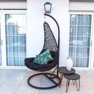 silla colgante jardín terraza playa balcón locales de ocio pra niños adultos relax comodidad mueble colgante