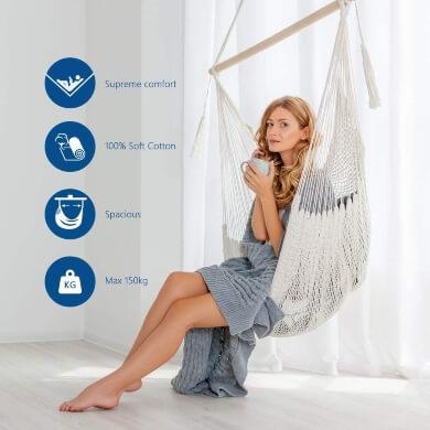Gran Oferta hamaca barato buen precio calidad mejor silla colgante tela hilo tejido