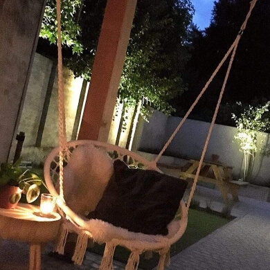 hamacas colgantes sillas de descanso muebles exterior decoración de hogar