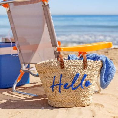 capazo playa hello azul natural