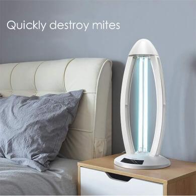 lampara ultravioleta anti bacterias gérmenes ácaros virus limpieza pasiva uv hogar oficina local comercial hoteles dormitorios recepciones bancos vehiculos