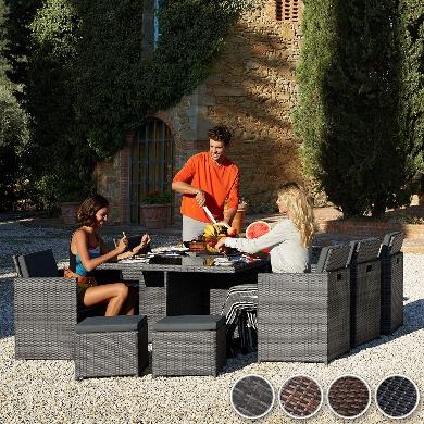 Mesas comedor jardin terraza exterior mimbre rattan ratan madera sillas tumbonas hamacas