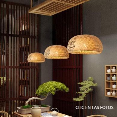 lámparas capazos canastas cestas sillas taburetes sillones hechos a mano de mimbre ratán bambú madera