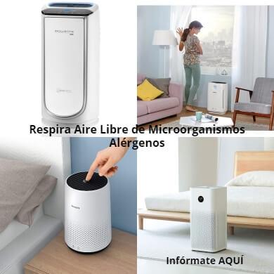 tu hogar libre de microorganismos alergenos alergias patogenos tos mucosidad conjuntivitis asma alérgica rinitis obstrucción nasal aire limpio purificar ambiente