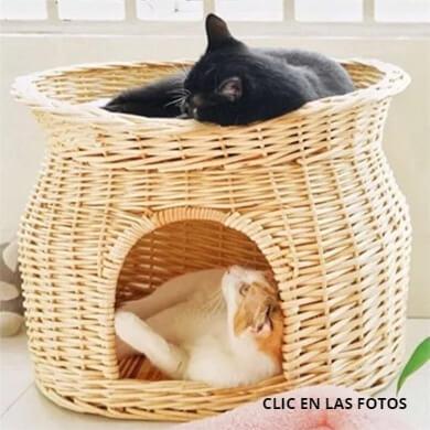 mimbre mascotas perros gatos animales domésticos camas colchones comodidas limpieza
