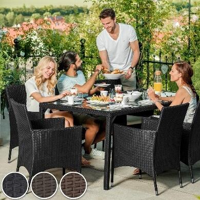 comedor mesa sillas mimbre rattan ofertas terraza jardín familia amigos